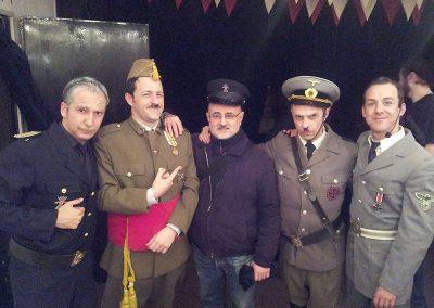 Con los actores de Hendaya el Musical