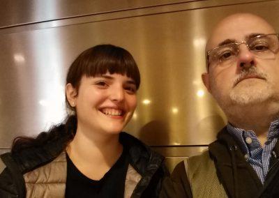 Con Paula Petit