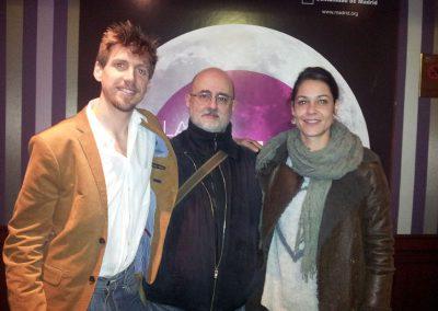 Con Elías Aguirre y Ruth Muelas