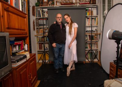 En el estudio. Con Ana Aznar